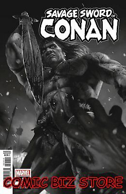 Savage Sword Of Conan #1 (2019) 1St Print Scarce 1:50 Rahzzah B&w Variant Cover