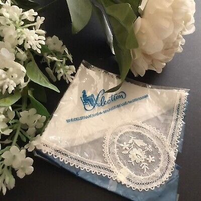 Vintage / Antique Lace Handkerchief ~ Very Pretty For Wedding Brugge Belgie
