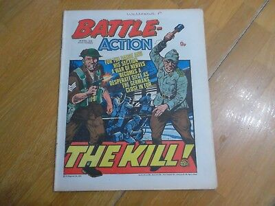Battle Action War Comic Issue Date 29  April  1978 Military Army Forces Interest