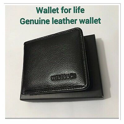 Men's RFID Block Soft Genuine Leather Wallets For Bank Card Credit Card Notes 04
