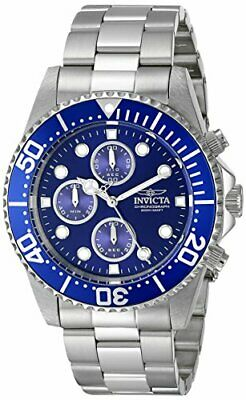 Invicta Men's Pro Diver Chronograph 200m Silver Tone Stainless Steel Watch 1769