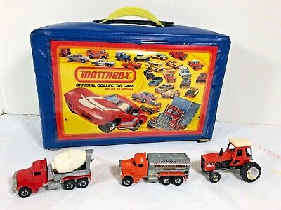 21 Hot Wheels / Matchbox vehicle 1970s collection & 1980 Official Collector Case