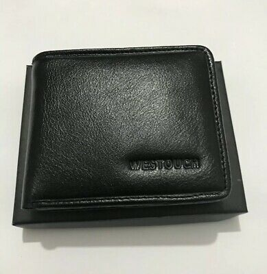 RFID Block Men's Soft Genuine Leather Wallets For Bank Card Credit Card Notes 02