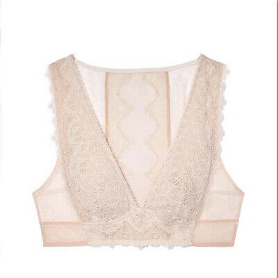 59be07bef78e61 Victoria s Secret Dream Angels Ivory Mesh Chantilly Lace Plunge Bralette  LARGE