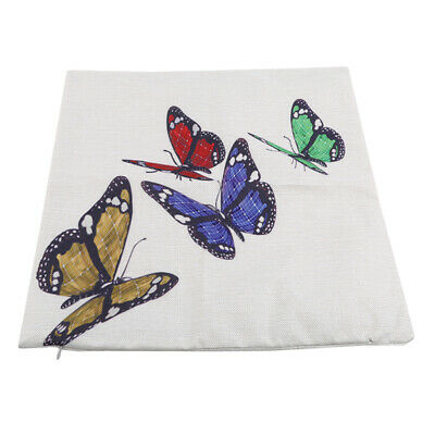 Butterfly Printed Cushion Cover Pillowcases Animals Square Room Decoration 8C