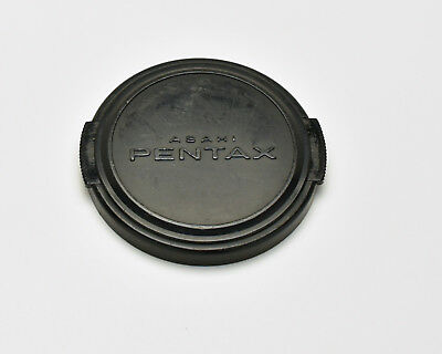 Genuine Asahi Pentax 52mm Snap On Front Lens Cap Silver Black SMC (2712)