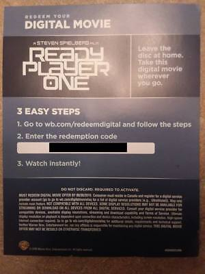 Ready Player One  Digital Canadian Code Only *Read Description*