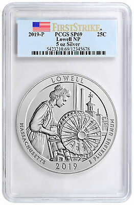 2019 P Lowell 5 oz ATB Silver Beautiful Specimen PCGS SP69 FS SKU56836