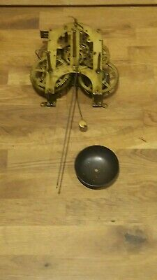 Antique Ansonia Wall Clock Movement Patented 1882 For Restoration