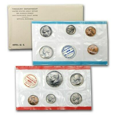1970 US 10 Piece Mint Set In original packaging from US mint Uncirculated