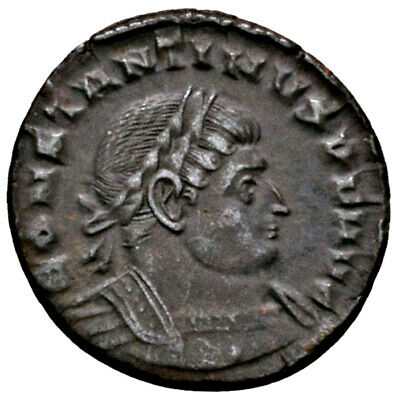 CONSTANTINE THE GREAT (316 AD) AE Follis. Trier #MA 1596