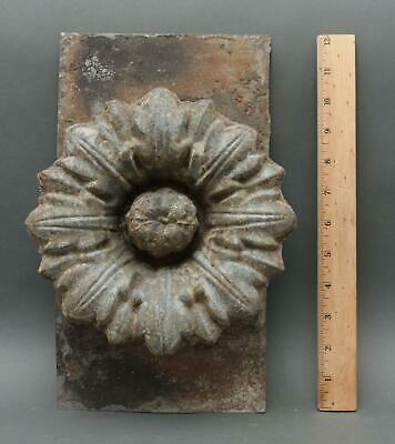 19thC Antique Architectural, Zinc Flower Rosette, Building Accent, NR