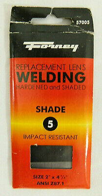 "Forney #5 Replacement Welding Lens Hardened Shaded Impact Resistant 2/"" x 4-1//4/"""