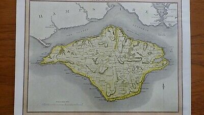 Antique Map Of The Isle Of Wight By J Thomson, 1817