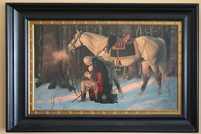 """Prayer at Valley Forge by Arnold Friberg 30""""x42"""" Commemorative Edition"""