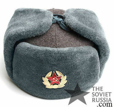 Ushanka Russian Soviet Army Military Winter Fur Hat Mens SIZE M 58 Surplus