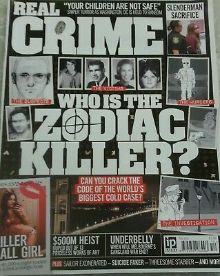 Real Crime Magazine No.012 Who is The Zodiac Killer,Bobby Cummines interview