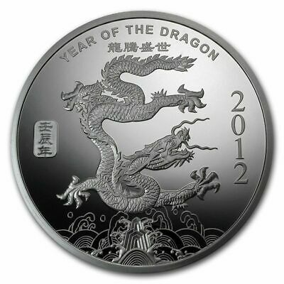 2012 Chinese Zodiac Year of the Dragon 1 Oz .999 Silver Art Round STILL SEALED