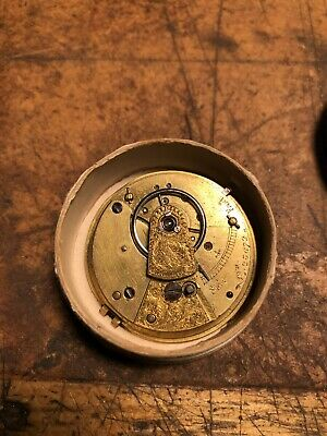 Antique pocket watch movement, English lever with fusee.