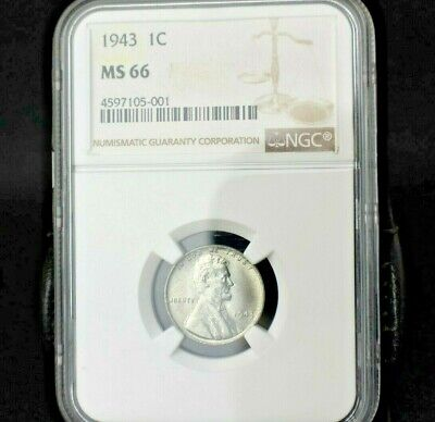 1943 Lincoln Wheat Cent Penny~1C~Ngc Ms66~Registry Quality Shine~Great Strike~!