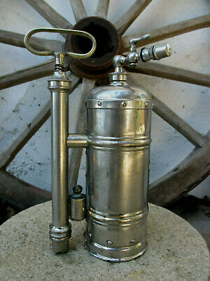 Vintage Brass Chromed Casa Hipolito Pump Sprayer Nozzle Farm Garden Tool Spray