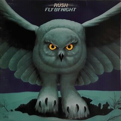 Rush - Fly By Night  MEGA RARE ORIG Mercury Canada Vinyl LP w/ lyric sheet (NM)
