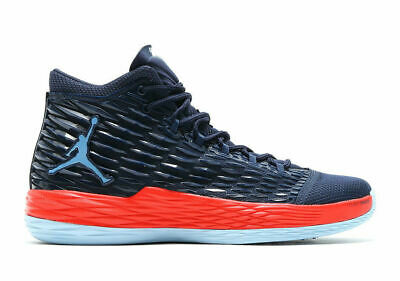 27ea76f4cdd NEW Nike Air Jordan Melo M13 USA SZ 13.5 Midnight Navy Orange Carmelo  881562-406