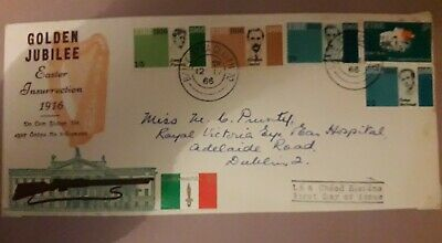 Irish Ireland Eire Stamps Fdc First Day Cover Golden Jubliee 1916-1966 Easter