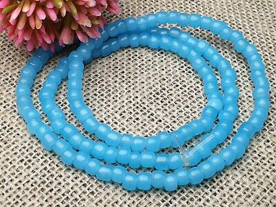 Strang Venedig Murano antike Glasperlen trade beads baby blue