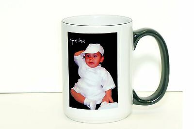 EXTRA LARGE Personalized Photo or Text  Mug 15 OZ -  2 sides prints available !