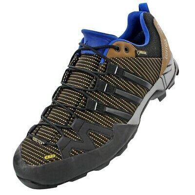 hot sales 498ad 54b4b Adidas AF5958 Outdoor Terrex Scope GTX Earth Black EQT Blue Mens Sneakers