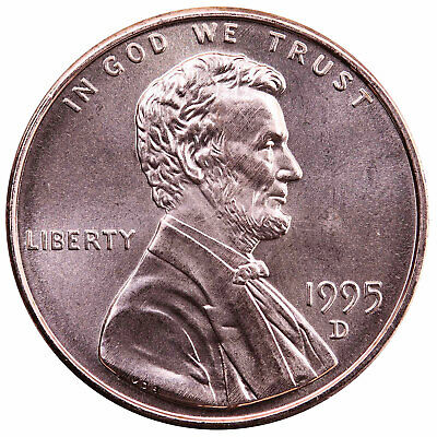 1995 D Lincoln Memorial Cent Choice BU Penny US Coin