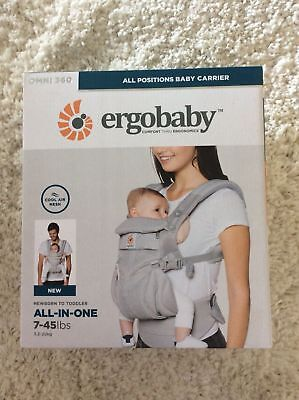 Ergo Baby OMNI 360 Cool Air Mesh Newborn Infant Toddler Baby Carrier Pearl Grey.