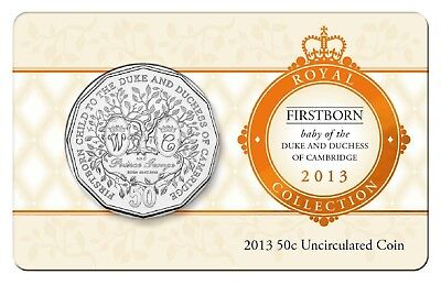 2013 50c Uncirculated Coin Firstborn Baby of the Duke and Duchess of Cambridge