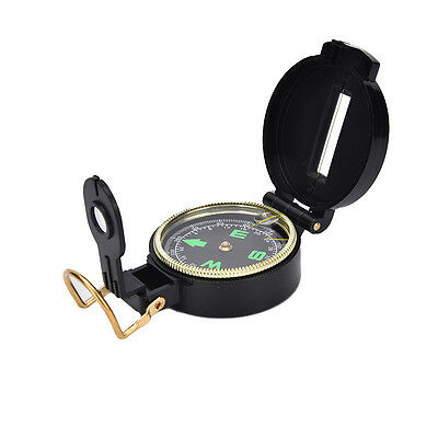 Metal Lensatic Compass Military Camping Hiking Army Style Survival Marching SEAU