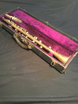 Fantastic Vintage MARTIN Antique METAL CLARINET- Greville France