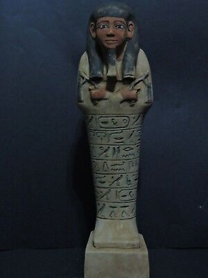 Rare Ancient Egyptian Antiques Hieroglyphics Ushabti (Shabti) New Kingdom Statue