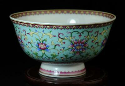 Chinese Old Hand-Made Famille-Rose Porcelain Flower Bowl /qianlong Mark B01
