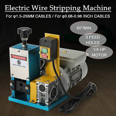 Electric Wire Stripping Machine Copper Cable Peeling Stripper Recycle Tool 1/4HP