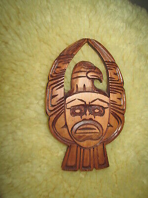 Hand Carved Wood Thunderbird Eagle Bird wooden Art carving