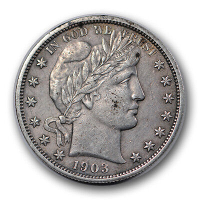 1903 S 50C Barber Half Dollar Extra Fine to AU Better Date R1067