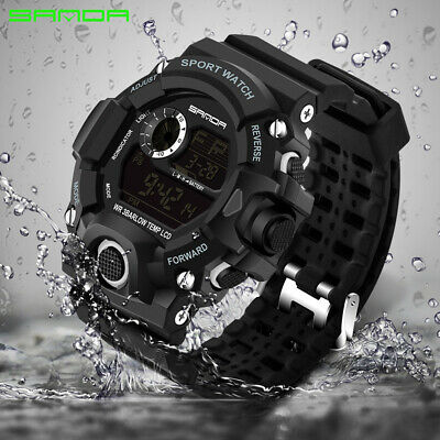 SANDA Mens Military Outdoor Sports Watches Fashion Led Digital Chronograph 326