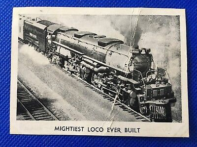 The Champion WONDERS OF THE SPEED WORLD Card # 4 Mightiest Loco Ever Built!