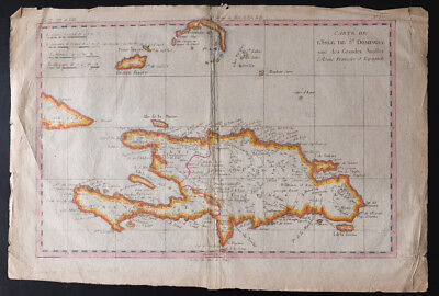 1780 - Old Map of St Domingue - Old Map - Bonne Raynal