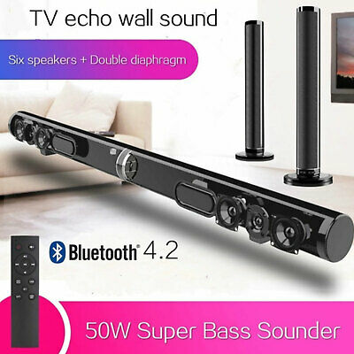 Home Theater Audio SOUNDBAR 50W Clear Sound Wireless Bluetooth Speaker Subwoofer