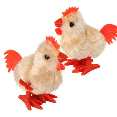 Cute Plush Rooster Clockwork Toy Wind Up Walking Toy Lovely Children Kids Gifts