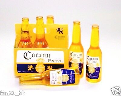 Accessories Miniature wine Dollhouse corona style Beer 6 PCS set re-ment Size