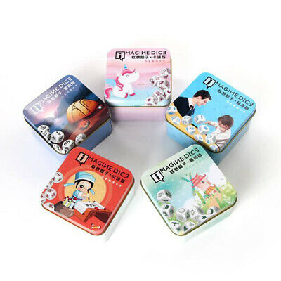 Happy Story Cubes Dice Toy Storytelling Game Imaginative Play for Kids 8C