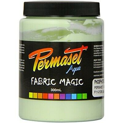 Permaset Aqua 300ml Fabric Printing Ink - Phosphorescent Green