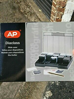 """Diaclass 35mm Slide Storage Case box, Holds up to 450 2"""" 5x5 Slides, Crystal Lid"""